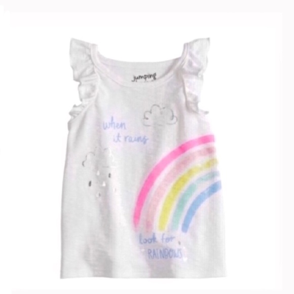 Other - Foiled rainbow graphic tank shirt